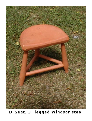D-seat Windsor stool