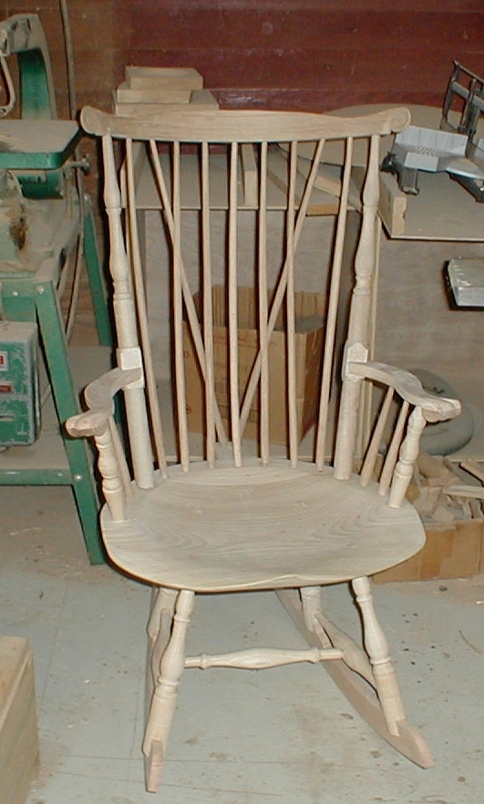 fanback rocking chair in progress