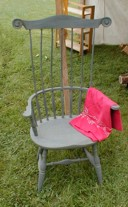 green comb back windsor chair